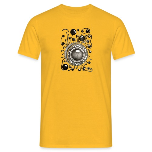Herrenshirt Soundglobe Gelb - Männer T-Shirt