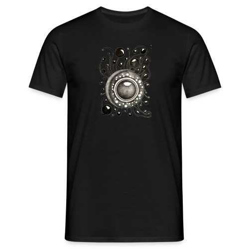 Herrenshirt Soundglobe Schwarz - Männer T-Shirt