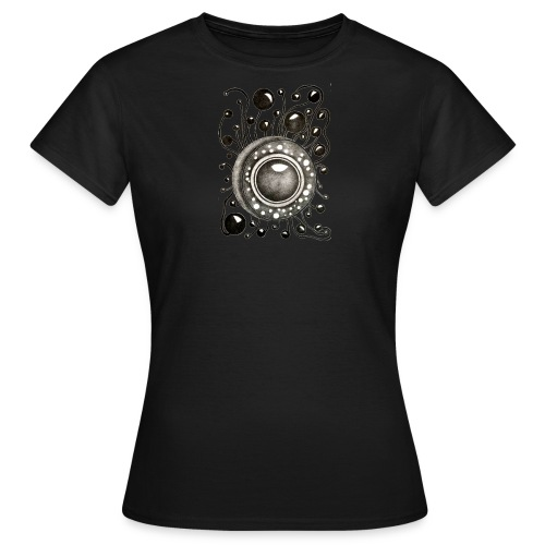 Damenshirt Soundglobe Schwarz - Frauen T-Shirt