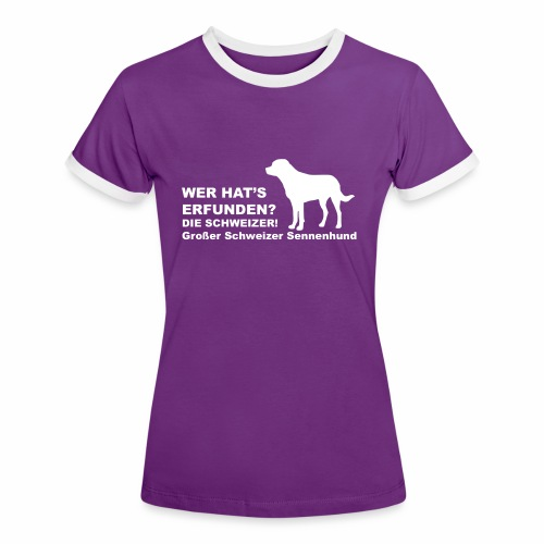 Wer hats erfunden - GS T-Shirts - Frauen Kontrast-T-Shirt