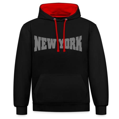New York Hoodie  - Kontrast-Hoodie