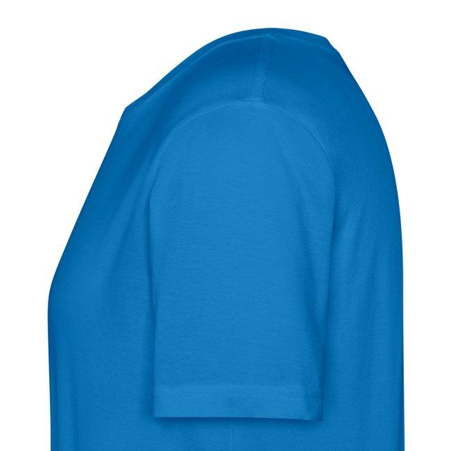 Bio T-Shirt, eigener Text auf dem Rücken, Folien-Text hellblau/weiß