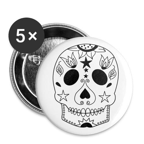 Skull Buttons - Buttons groß 56 mm