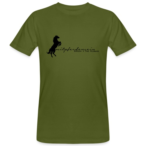 RU Font , Back MPS Rider, Menbioshirt ( Print: Black ) - Männer Bio-T-Shirt