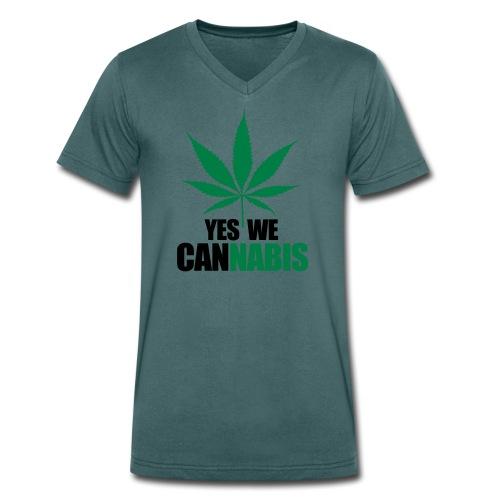 CanNABIS Shirt  - Männer Bio-T-Shirt mit V-Ausschnitt von Stanley & Stella