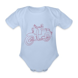 Scooter Simson Schwalbe Baby Bodysuits - Organic Short-sleeved Baby Bodysuit