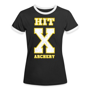 Frauen Kontrast-T-Shirt - HIT X ARCHERY - Frauen Kontrast-T-Shirt