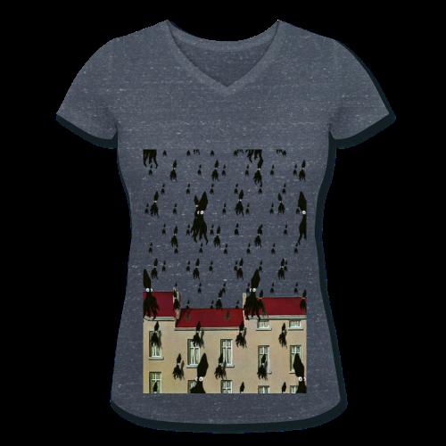 Tshirt MasSquid ColV ELLE - T-shirt bio col V Stanley & Stella Femme