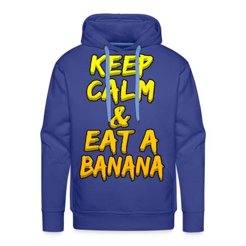 KEEP CALM & EAT A BANANA - Men's Premium Hoodie