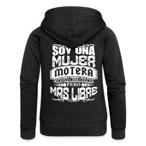 Soy una mujer motera - Chaqueta con capucha premium mujer