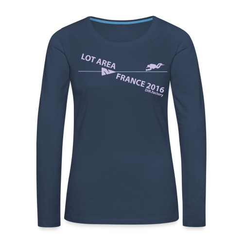 LOT AREA II France 2016 Collection ONE - Frauen Premium Langarmshirt