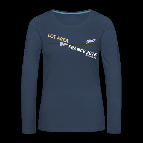 LOT AREA II France 2016 Collection THREE - Frauen Premium Langarmshirt