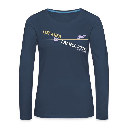 LOT AREA II France 2016 Collection THREE - Frauen Premium Langarmshirt