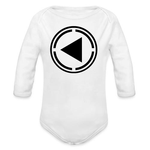 Baby Black Logo - Organic Longsleeve Baby Bodysuit