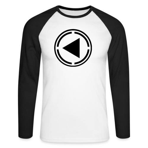 Baseball Tee Black Logo - Men's Long Sleeve Baseball T-Shirt