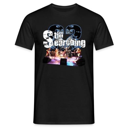Logo mit Livebild vorne - Männer T-Shirt