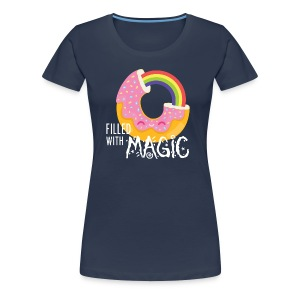 Navy Donut - filled with magic T-Shirts - Women's Premium T-Shirt