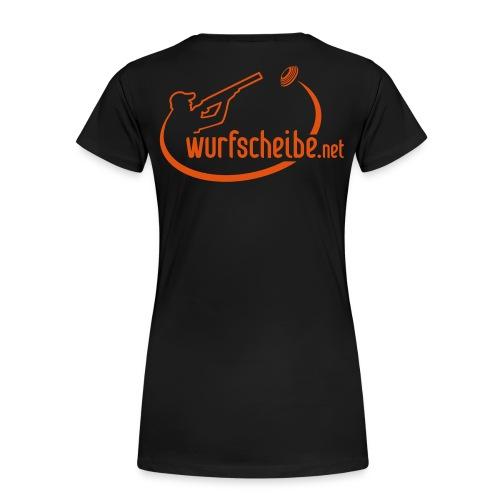 T-Shirt Logo komplett - wurfscheibe.net - Frauen Premium T-Shirt
