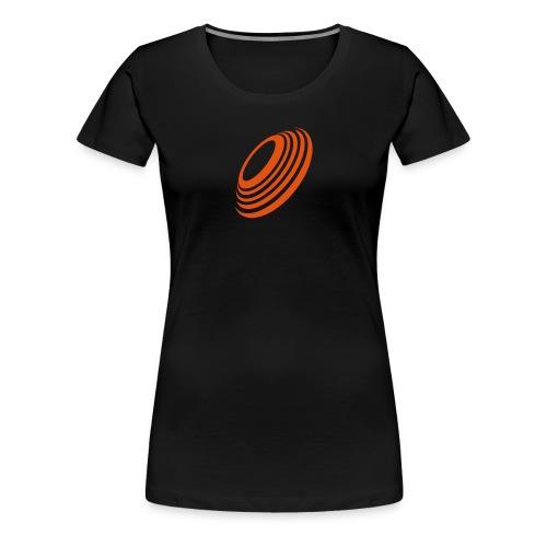 T-Shirt Wurfscheibe - wurfscheibe.net - Frauen Premium T-Shirt