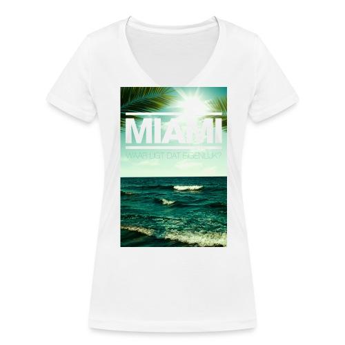 Miami vrouwen v-hals bio - Vrouwen bio T-shirt met V-hals van Stanley & Stella