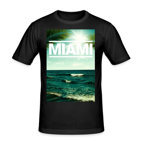 Miami mannen slimfit - slim fit T-shirt