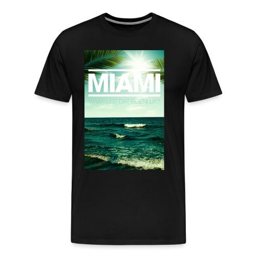 Miami mannen premium - Mannen Premium T-shirt