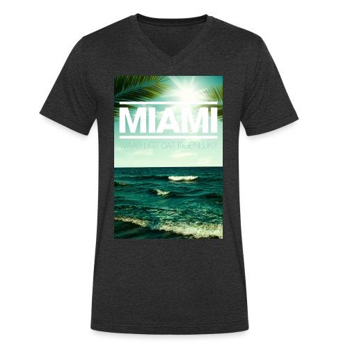 Miami mannen v-hals bio - Mannen bio T-shirt met V-hals van Stanley & Stella