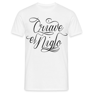T-shirt blanc Chicano Letter - T-shirt Homme