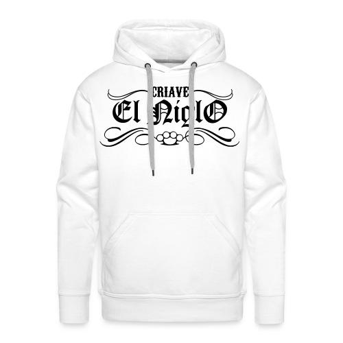 Sweat blanc Chicano Street - Sweat-shirt à capuche Premium pour hommes