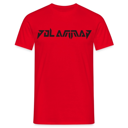 Dol Ammad Logo - Black Glitter on Red - Men's T-Shirt