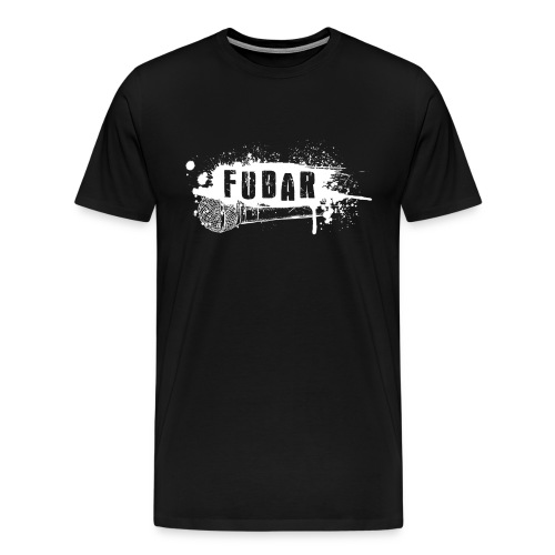 13. Fubar White logo Premium - Men's Premium T-Shirt