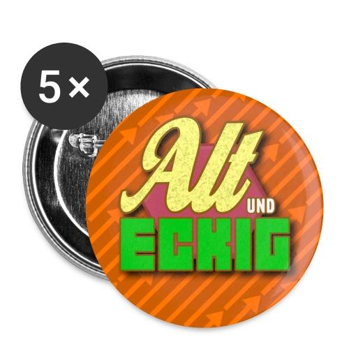 Buttons Alt und Eckig - Buttons klein 25 mm (5er Pack)