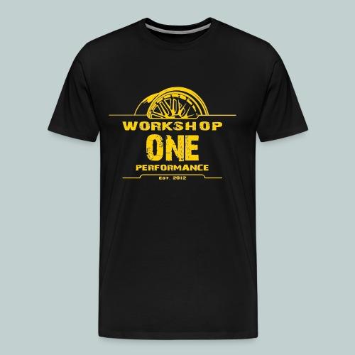 wOp Shirt gelb - Männer Premium T-Shirt