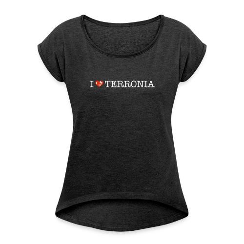 I Love Terronia - Maglietta da donna con risvolti
