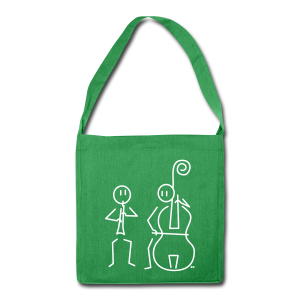 Duo hobo / double bass - Shoulder Bag made from recycled material