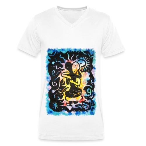 Tropical love - Camiseta ecológica hombre con cuello de pico de Stanley & Stella