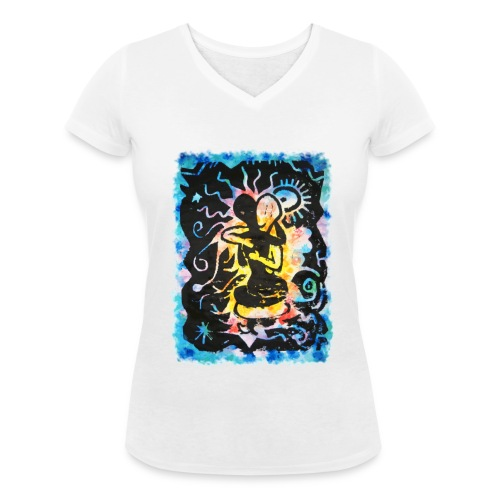 Tropical love - Camiseta ecológica mujer con cuello de pico de Stanley & Stella