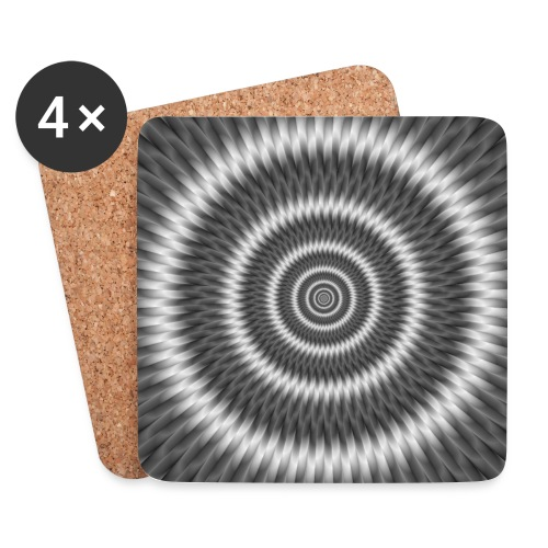 Monochrome Rings - Coasters (set of 4)