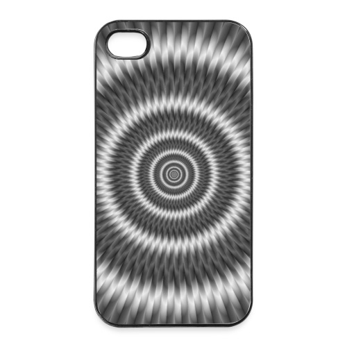 Monochrome Rings - iPhone 4/4s Hard Case