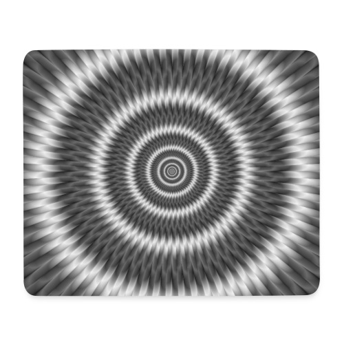 Monochrome Rings - Mouse Pad (horizontal)