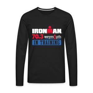 IRONMAN 70.3 Weymouth In Training Men's Premium T-shirt LS - Men's Premium Longsleeve Shirt