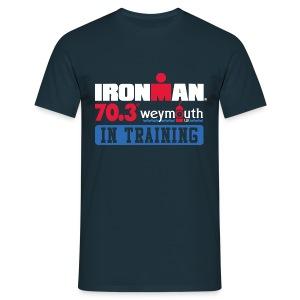 IRONMAN 70.3 Weymouth In Training Men's T-shirt  - Men's T-Shirt
