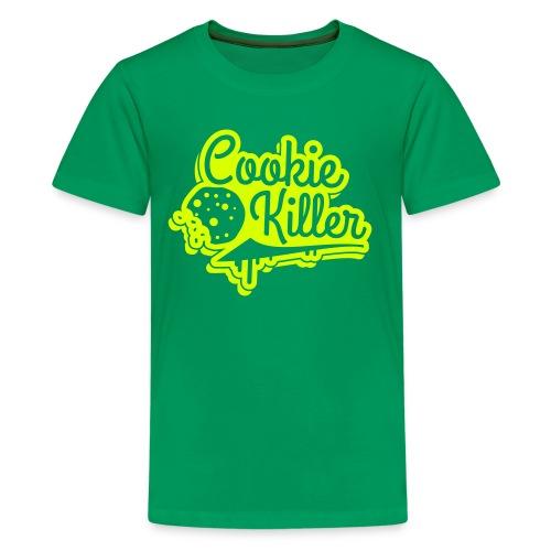 COOKIE KILLER T-SHIRT grün - Teenager Premium T-Shirt
