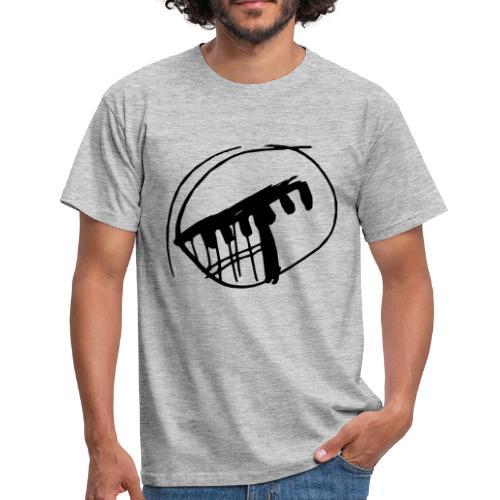 grey-onlylogo - Men's T-Shirt