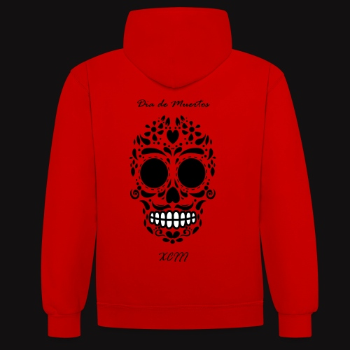 DIa Hoodie Red - Sweat-shirt contraste