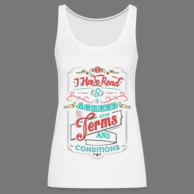 Terms & Conditions - Grunge Look | Frauen Premium Tank Top