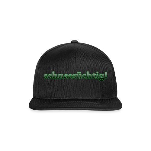 Kappe Schneesüchtig Schwarz - Snapback Cap