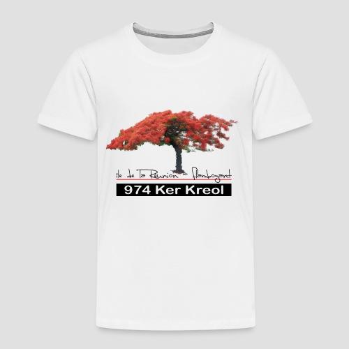 Tee shirt Premium Enfant Flamboyant 974 Ker Kreol - T-shirt Premium Enfant