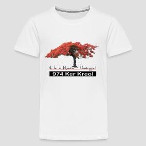 Tee shirt Premium Ado Flamboyant 974 Ker Kreol - T-shirt Premium Ado