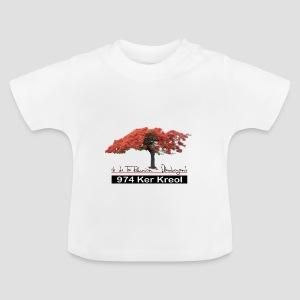 Tee shirt Bébé Flamboyant 974 Ker Kreol - T-shirt Bébé